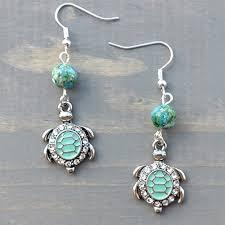 teal countryside chandelier earrings in silver or rose gold handmade 2dikwi1y5