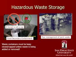 34 Hazardous Waste Storage Containers, Usepa Requirements For The ...
