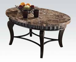 Modern oval marble top coffee table chocoaddicts modern oval marble top  coffee table geotapseo Images