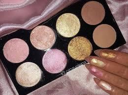 makeup revolution palette golden sugar 2 blush bronze highlighter rose gold