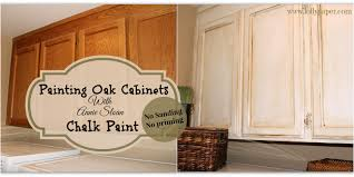 White Kitchen Cupboard Paint Kitchen Cabinet Makeover With Chalk Paint Design Porter