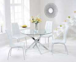 photograph showing denver 110cm gl dining table with calgary chairs