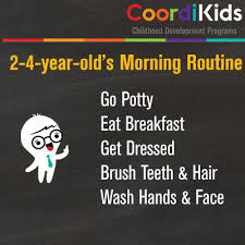 Morning Routine Chart For 5 Year Old Try A Great Daily Routine For Kids 5 Easy Peasy Adhd
