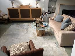 modern rug with an abstract design this wool and bamboo silk rug completed the look of this home