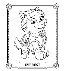 Coloring Pages Of Paw Patrol Best Collection Paw Patrol Coloring Dog