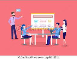 Business Meeting Chart Presentation Teamwork