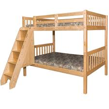 Full Over Bunk Bed With Stairs Natural Staircase Beds | Twin