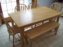 ... Traditional Kitchen Table Set With Rectangular Beadboard Dining Kitchen  Table With Benches Kitchen Table With Benches ...