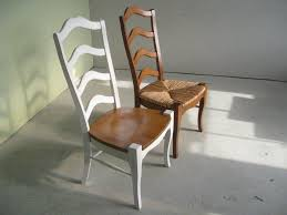 custom made white french ladder back dining room chairs