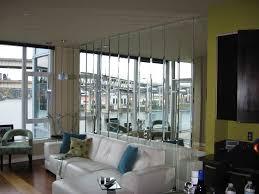 bedroom wall beveled mirror strip wall