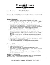 Front Desk Job Description For Resume Reference Front Desk Agent
