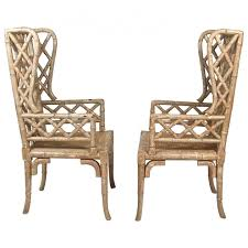 interior rattan wing back chairs marvelous wingback chair wicker antique modest 10 rattan wingback