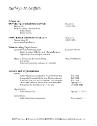 Double major resume gallery Double Major Resume Kathryn Griffith Select Jan  Splendid Picture Mar with medium