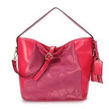 Wholesale Coach Legacy In Signature Medium Fuchsia Shoulder Bags MT4350