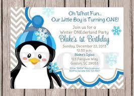 Diy Printable Penguin Onederland Winter Wonderland Invitation With