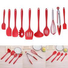 10pcsset Non stick Pan Kitchen Utensils Set Silicone Kitchenware