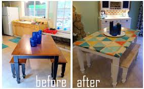 how to diy triangle pattern kitchen tabletop