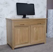 conran solid oak hidden home office. Eton Solid Oak Furniture Home Office PC Hideaway Computer Desk Conran Hidden
