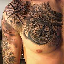 Map Tattoo U Compass By Fabrizio Converso Pinterest Gado Gado