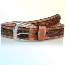 details about nocona belt co men s tan mexican fl embose 34