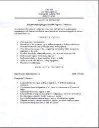 Sample Computer Technician Resume Computer Technician Resumes