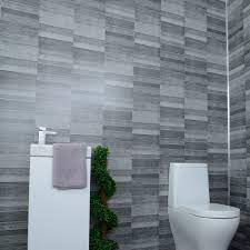Grey Anthracite Tile Effect Bathroom Wall Cladding Shower Panels 2 6m X 0 25m X 5mm Claddtech