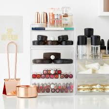 makeup storage furniture. clarity stacking collection makeup storage furniture a