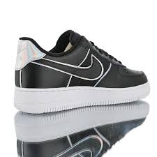 mens womens winter shoes nike air force 1 low y2k 4 iridescent black leather