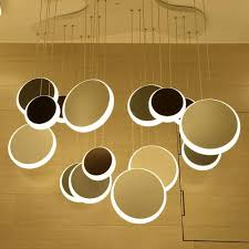 unique modern round metal acrylic chandelier free combination