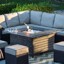 red ember willow aluminum propane gas fire pit table from hayneedle com