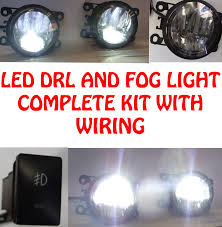 Ford Focus Fog Lights Switch Details About High Power Led Drl And Fog Lights Lighting Lamp Part With Wiring And Switch