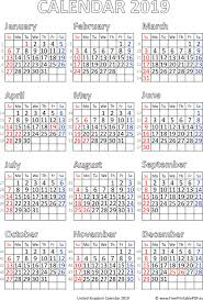Holiday Calendar Template Custom Calendar 48 Printable UK Free Printable PDF