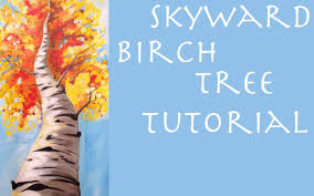 fall birch tree beginner acrylic painting tutorial thankful4art you