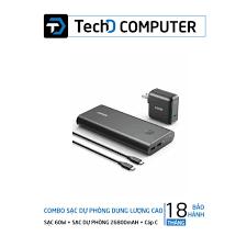 Combo Pin sạc dự phòng ANKER PowerCore+26800mAh PD 45W kèm Sạc PowerPort  Atom III 60W - B1376