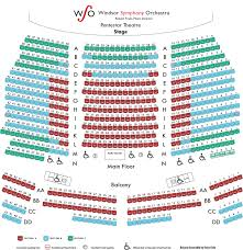 Casino Windsor Seating Chart Seating Map Windsor Symphony Orchestra