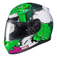 Shop Hjc Marvel Cl 17 Hulk Full Face Helmet By Size Color