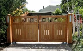driveway gates wooden 2 5 delightful custom wood in silicone valley ca