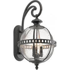 halleron traditional exterior wall lantern with victorian globe shade medium