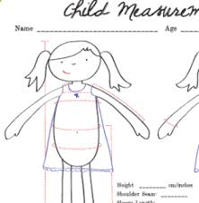 Freebie Child Measurement Chart Sewing