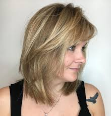Mid Length Layered Cut With Side