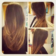 Razor Haircut And Caramel Ombre Hair