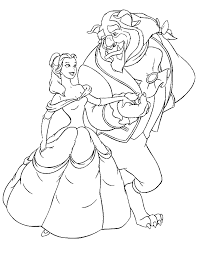 Disney Beauty And The Beast Coloring Pages Disney Beauty And The