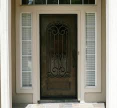 Custom Wrought Iron Single Doors in Lubbock Amarillo Midland ...