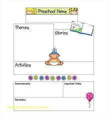 Preschool Newsletter Template Custom Weekly Newsletter Template Preschool Dermac
