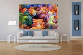 living room art 1 piece canvas wall art abstract decor abstract artwork  on colorful abstract canvas wall art with 1 piece colorful artwork abstract canvas wall art