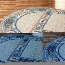 round blue kitchen rugs