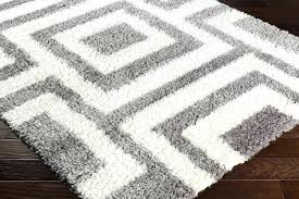 gray white area rug home decor black and rugs 5x7