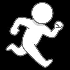 走る人のイラスト棒人間 かわいいフリー素材集 いらすとや