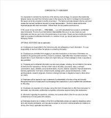 20 Confidentiality Agreement Templates Doc Pdf Free Premium