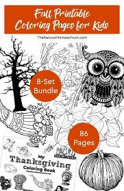 Fall Printable Coloring Pages For Kids 8 Set Bundle The Natural